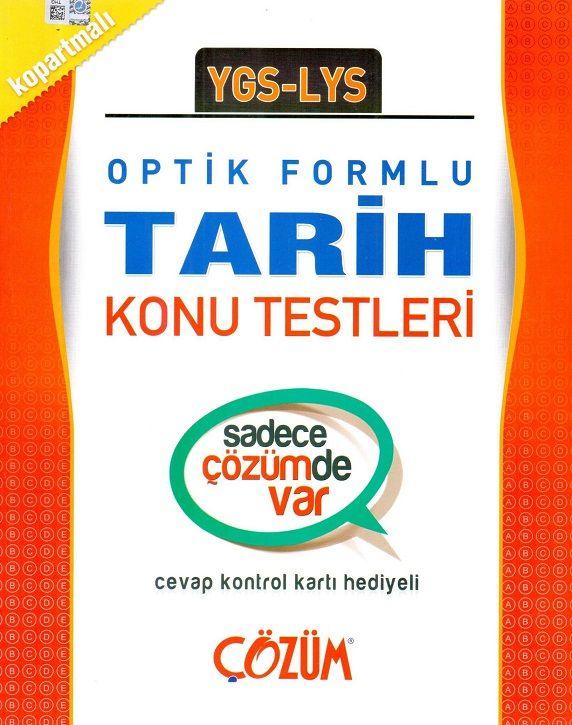 Çözüm Yayınları YGS LYS Tarih Optik Formlu Konu Testleri