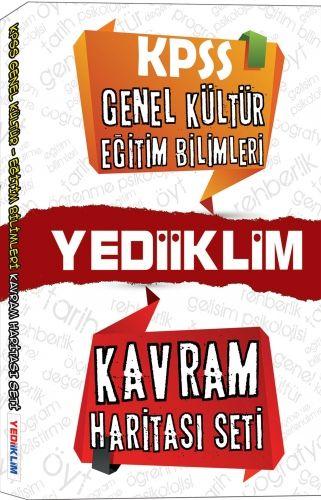 Yediiklim Yayınları KPSS Genel Kültür Eğitim Bilimleri Kavram Haritası Seti