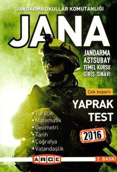 Arge Yayınları JANA 2016 Çek Kopar Yaprak Test