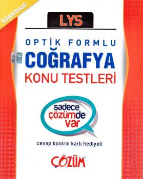 Çözüm LYS Coğrafya Optik Formlu Konu Testleri