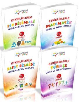 Duru Yayıncılık 3. Sınıf Akademi Çocuk Etkinliklerle Ünite Soru ve Testleri Seti 4 Kitap