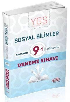 Editör Yayınları YGS Sosyal Bilgiler 9+1 Çözümlü Deneme Sınavı