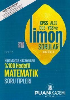 Puan Akademi 2016 KPSS ALES DGS YGS ye Matematik Limon Çözümlü Sorular