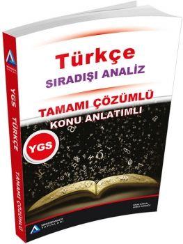 Sıradışıanaliz Yayınları YGS Türkçe Tamamı Çözümlü Konu Özetli