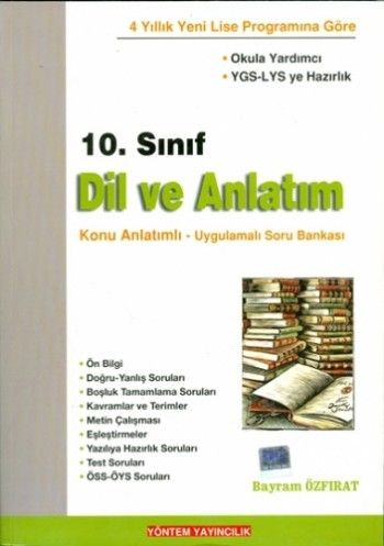 Yöntem Yayınları 10. Sınıf Dil ve Anlatım Konu Uygulamalı Soru Bankası