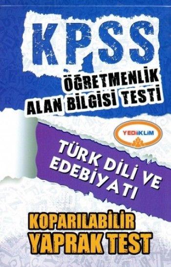 Yediiklim ÖABT Türk Dili ve Edebiyatı Koparılabilir Yaprak Test