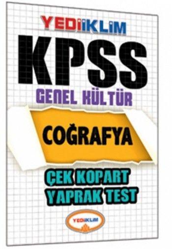 Yediiklim   KPSS Coğrafya Çek Kopart Yaprak Test