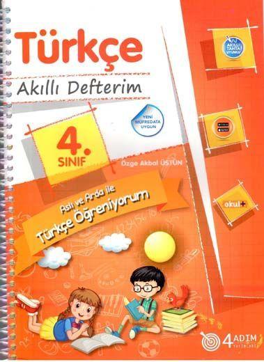 4 Adım Yayıncılık 4. Sınıf Türkçe Akıllı Defterim