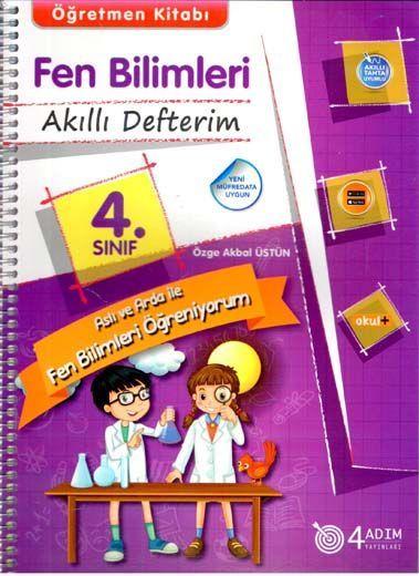 4 Adım Yayıncılık 4. Sınıf Fen Bilimleri Akıllı Defterim Öğretmen Kitabı