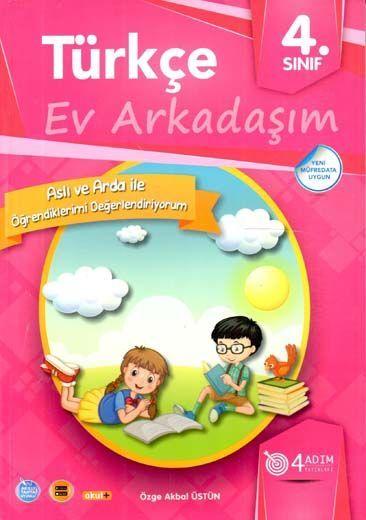 4 Adım Yayıncılık 4. Sınıf Türkçe Ev Arkadaşım