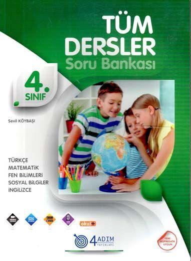 4 Adım Yayıncılık 4. Sınıf Tüm Dersler Soru Bankası