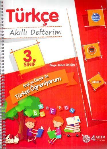4 Adım Yayıncılık 3. Sınıf Türkçe Akıllı Defterim
