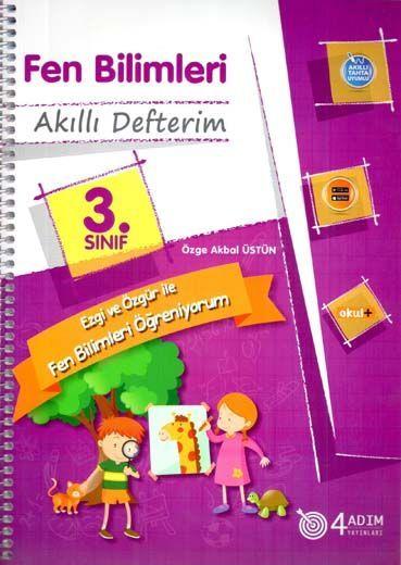 4 Adım Yayıncılık 3. Sınıf Fen Bilimleri Akıllı Defterim
