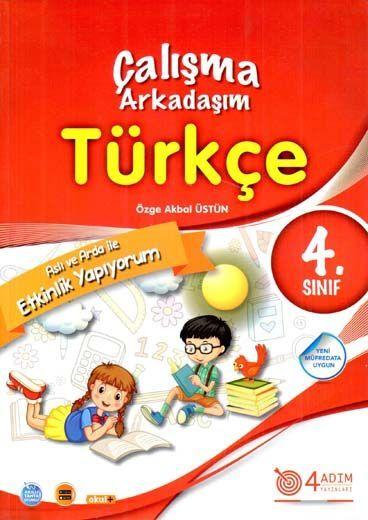 4 Adım Yayıncılık 4. Sınıf Türkçe Çalışma Arkadaşım