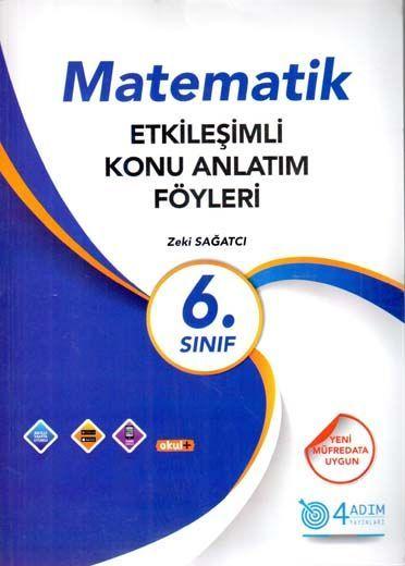 4 Adım Yayıncılık 6. Sınıf Matematik Etkileşimli Konu Anlatım Föyleri