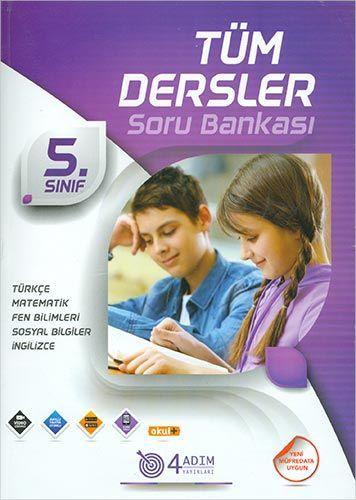 4 Adım Yayıncılık 5. Sınıf Tüm Dersler Soru Bankası