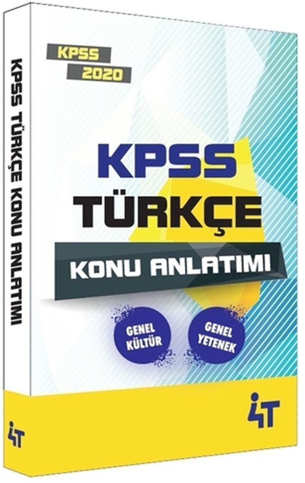 4T Yayınları 2020 KPSS Türkçe Konu Anlatım