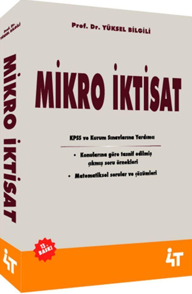 4T Yayınları Mikro İktisat 13. Baskı