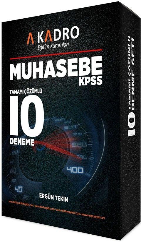 A Kadro YayınlarıKPSS A Grubu Muhasebe Tamamı Çözümlü 10 Deneme