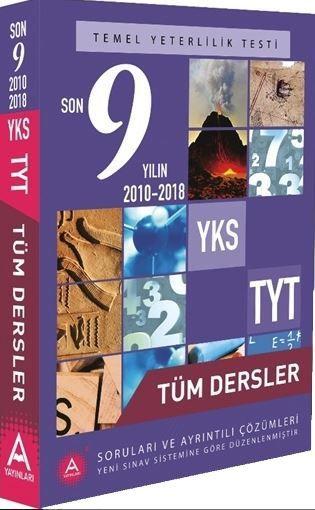 A Yayınları TYT Tüm Dersler 9 Yılın Çıkmış Soruları ve Ayrıntılı Çözümleri