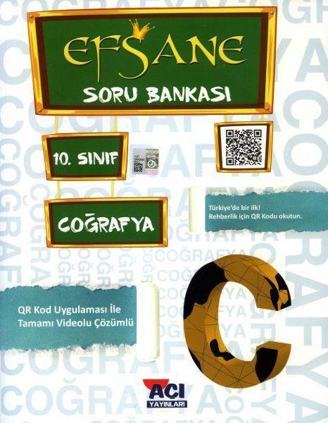 Açı Yayınları 10. Sınıf Coğrafya EFSANE Soru Bankası