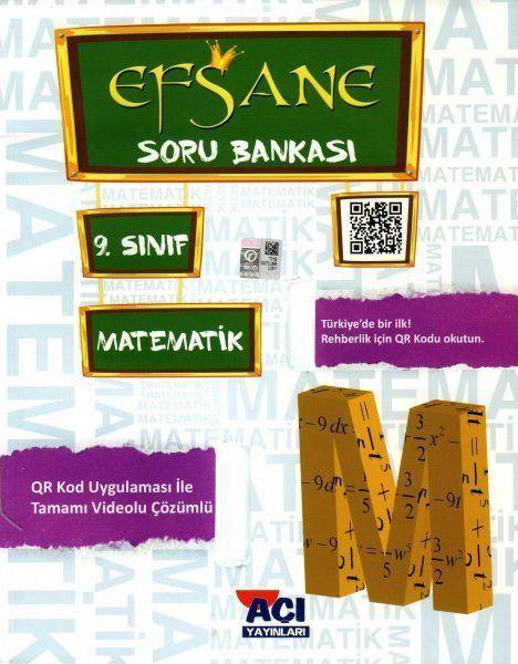 Açı Yayınları 9. Sınıf Matematik EFSANE Soru Bankası