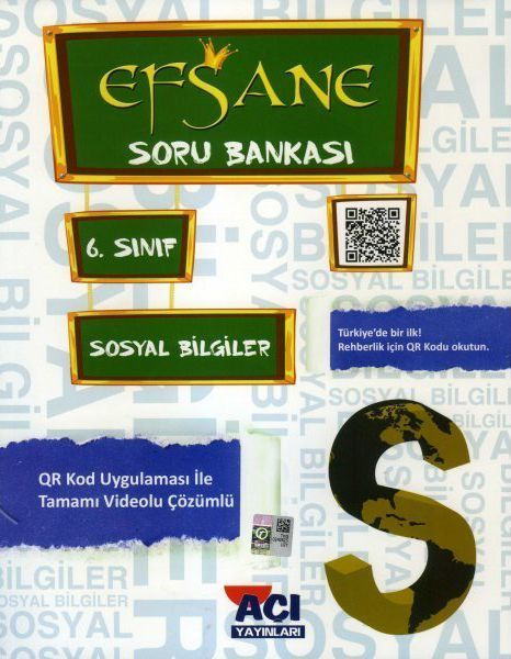 Açı Yayınları 6. Sınıf Sosyal Bilgiler EFSANE Soru Bankası