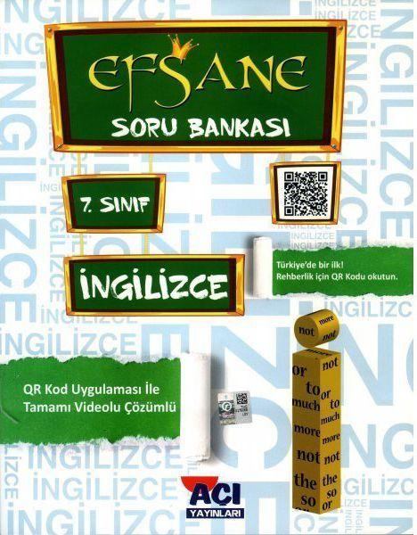 Açı Yayınları 7. Sınıf İngilizce EFSANE Soru Bankası