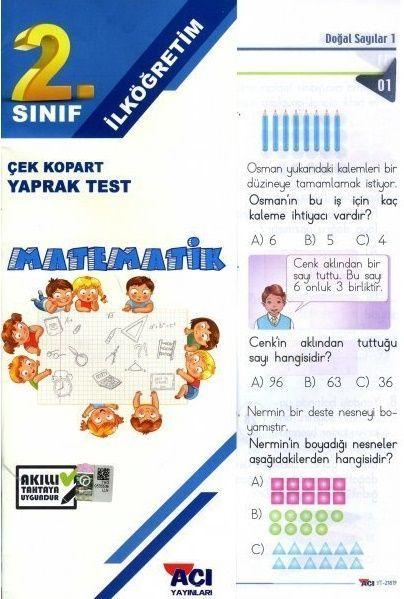 Açı Yayınları 2. Sınıf Matematik Çek Kopart Yaprak Test