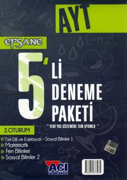 Açı Yayınları AYT EFSANE 5 li Deneme Paketi