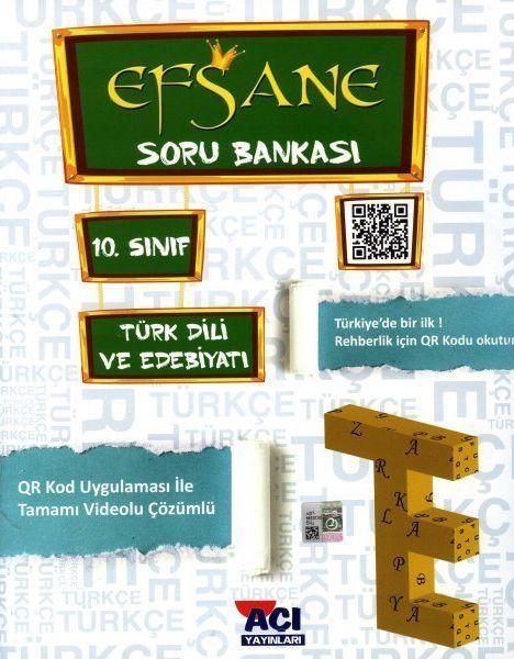 Açı Yayınları 10. Sınıf Türk Dili ve Edebiyatı EFSANE Soru Bankası