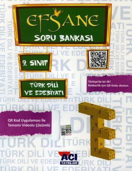 Açı Yayınları 9. Sınıf Türk Dili ve Edebiyatı EFSANE Soru Bankası