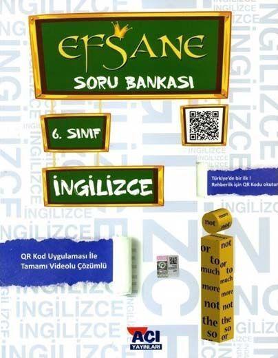 Açı Yayınları 6. Sınıf İngilizce EFSANE Soru Bankası