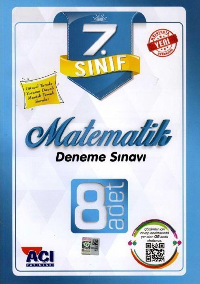 Açı Yayınları 7. Sınıf Matematik 8 li Deneme Sınavı