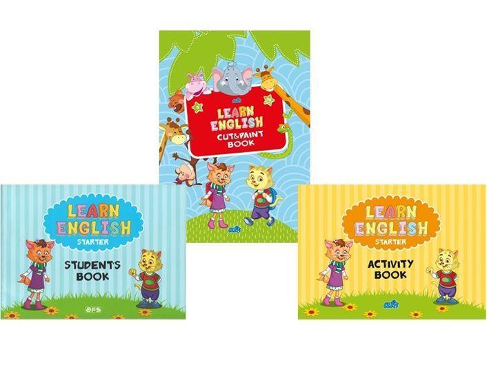 AFS Yayıncılık Learn English Students Activity Cut Paint Book