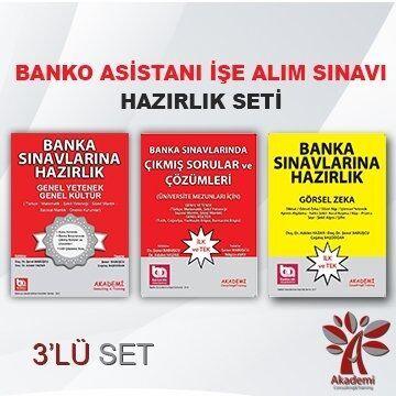 Akademi Eğitim Banko Asistanı İşe Alım Sınavı Hazırlık Seti 3 lü Set