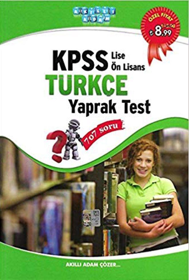 Akıllı Adam KPSS Lise Önlisans Türkçe Yaprak Test