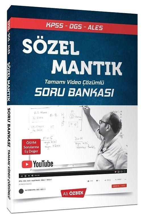 Ali Özbek 2020 KPSS DGS ALES Sözel Mantık Soru Bankası Video Çözümlü