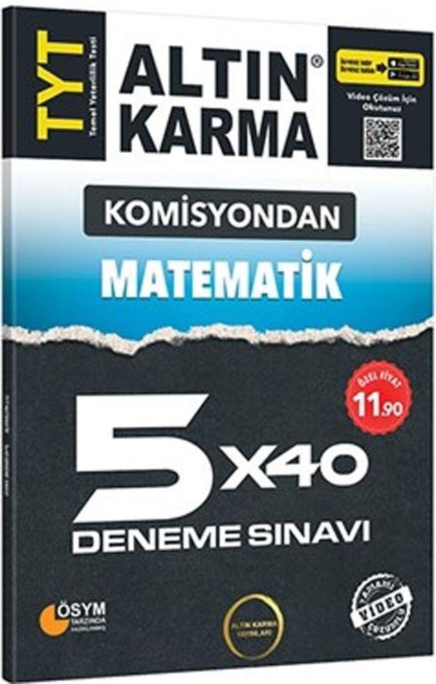 Altın Karma TYT Matematik Komisyondan 5x40 Deneme Sınavı