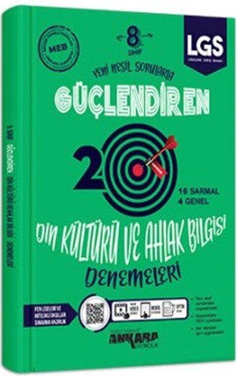 Ankara Yayıncılık 8. Sınıf LGS Din Kültürü ve Ahlak Bilgisi 20 Güçlendiren Denemeleri