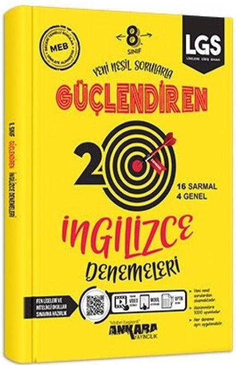 Ankara Yayıncılık 8. Sınıf LGS İngilizce 20 Güçlendiren Denemeleri
