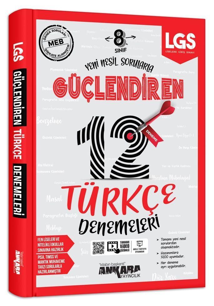 Ankara Yayıncılık 8. Sınıf LGS Türkçe 12 li Güçlendiren Denemeleri