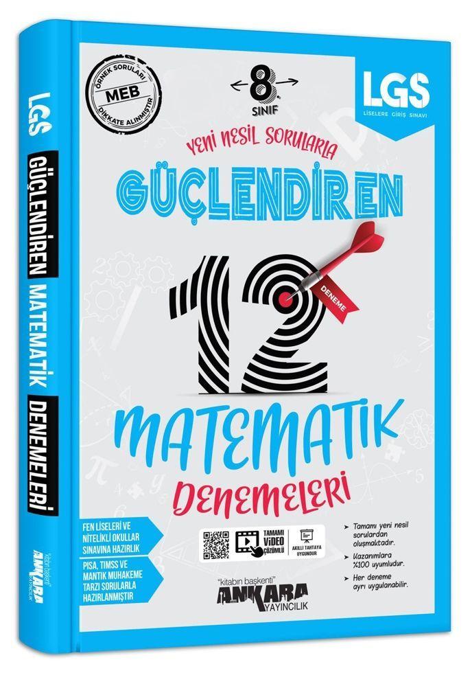 Ankara Yayıncılık 8. Sınıf LGS Matematik 12 li Güçlendiren Denemeleri