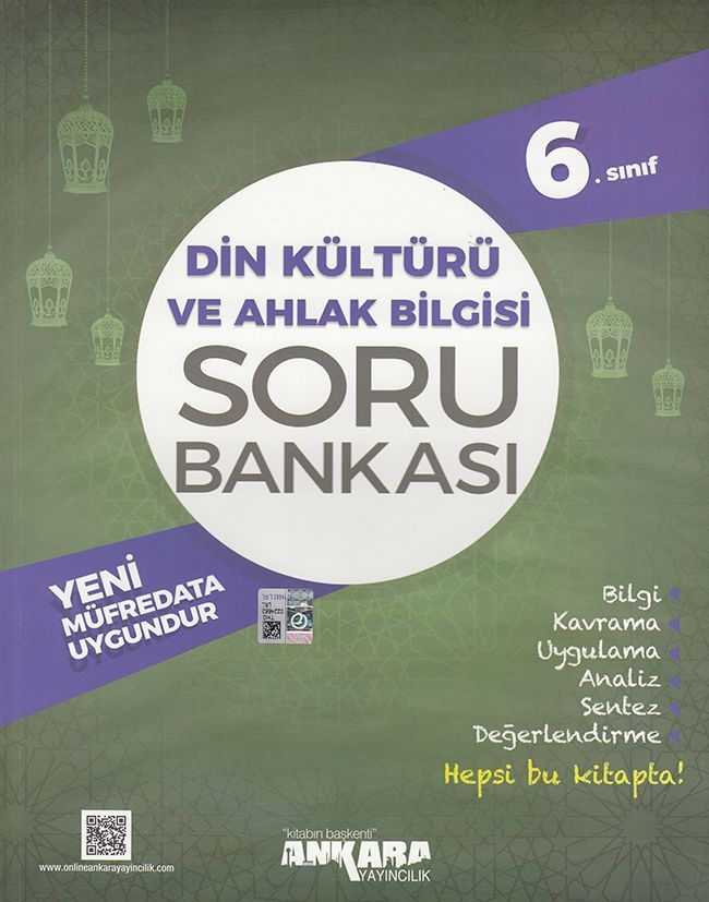 Ankara Yayıncılık 6. Sınıf Din Kültürü ve Ahlak Bilgisi Soru Bankası