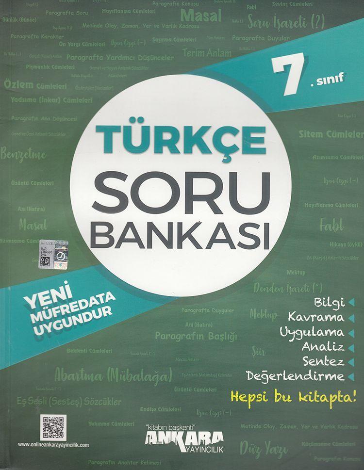 Ankara Yayıncılık 7. Sınıf Türkçe Soru Bankası
