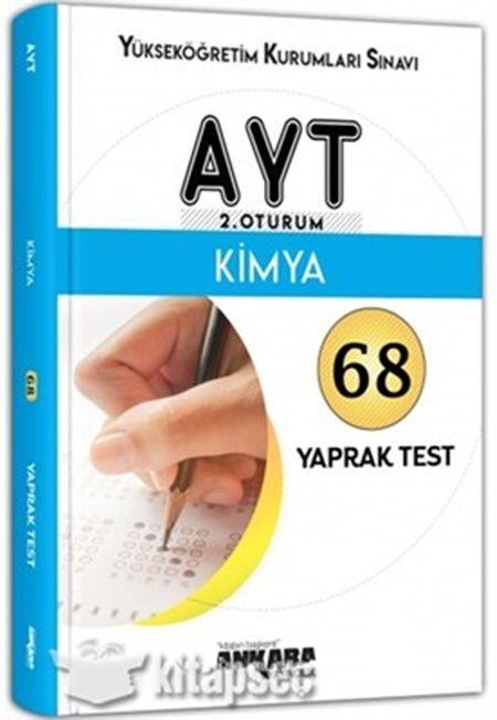 Ankara Yayıncılık AYT Kimya 68 Yaprak Test
