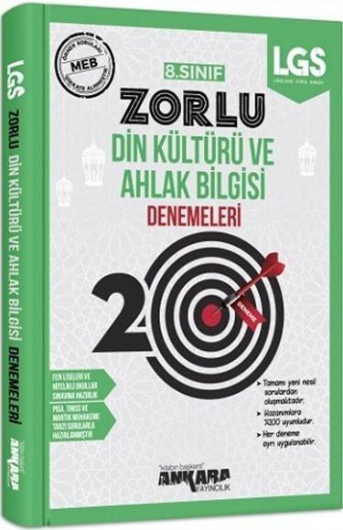 Ankara Yayıncılık 8. Sınıf LGS Din Kültürü ve Ahlak Bilgisi 20 Zorlu Denemeleri