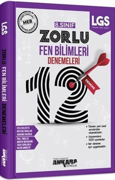 Ankara Yayıncılık 8. Sınıf LGS Fen Bilimleri 20 Zorlu Denemeleri