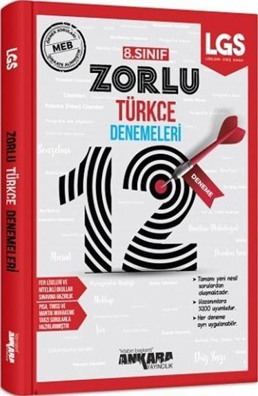 Ankara Yayıncılık 8. Sınıf LGS Türkçe 12 Zorlu Denemeleri