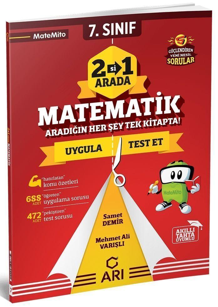 Arı Yayıncılık 7. Sınıf Matematik İkisi Bir Arada Matemito